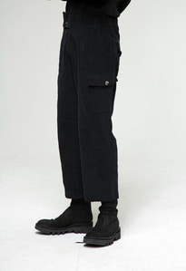Baroque 18fw Collection Cargo Pocket Pants [Black]