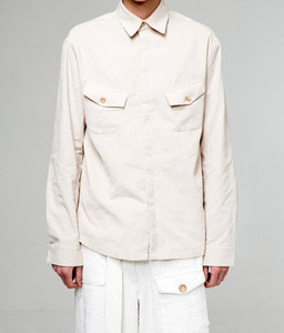 Baroque 18fw Collection Cargo Pocket Shirt [Beige]