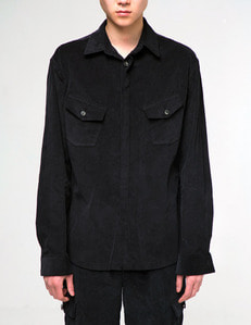 Baroque 18fw Collection Cargo Pocket Shirt [Black]