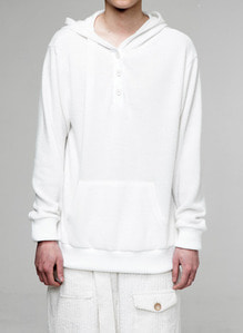 Baroque 18fw Collection 3-Button Hoodie [White]